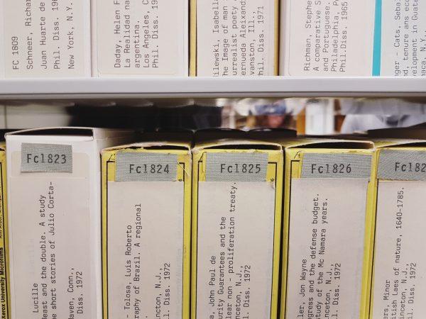 Mikrofilme im Bücherturm